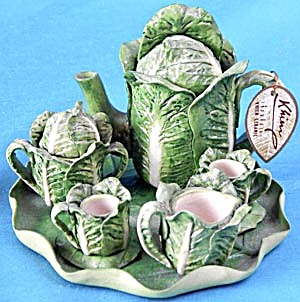 Miniature Lettuce Tea Set