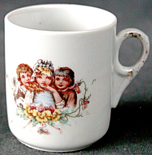 Vintage Porcealin Child Cup With Children