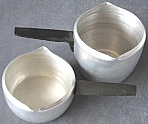 Vintage Aluminum Toy Pots Set Of 2