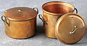 Vintage Doll Copper Pots