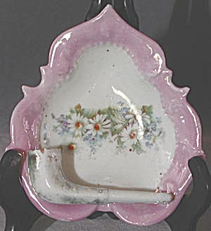Vintage German Pink Luster Pipe Ash Tray