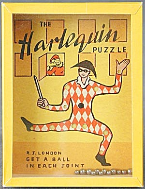 Vintage Harlequin Dexterity Game Puzzle