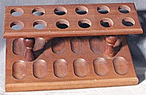 Vintage Wooden 12 Pipe Rack