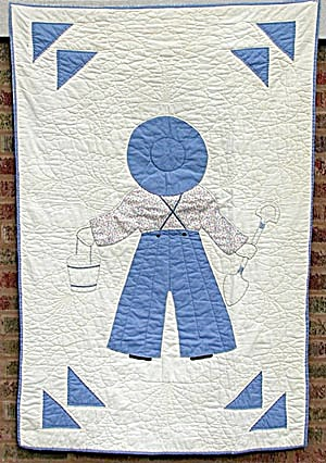 Antique Overall Boy Crib Quilt