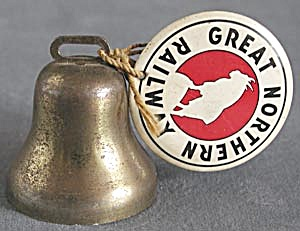 Vintage Great Northern Railway Pin And Bell
