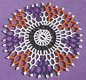 Vintage Beaded Doily