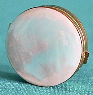 Vintage Schildkraut Mother Of Pearl Pillbox