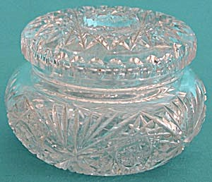 Vintage Cut Glass Powder Box
