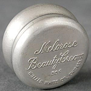 Vintage Aluminum Melorose Beauty Cream Tin
