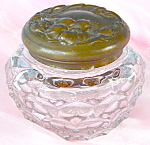 Art Nouveau Glass Dresser Jar