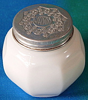 Watkins White Glass Cream Jar With Lid