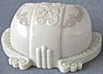 Vintage Art Nouveau Ivory Colored Embossed Ring Box