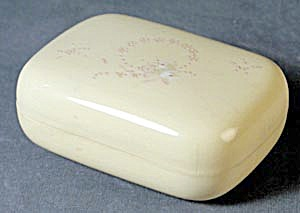 Vintage Celluloid Enameled Painted Soap Box