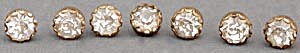 Vintage Metal & Rhinestone Buttons Set Of 7