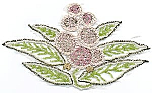 Vintage Embroidered And Beaded Applique