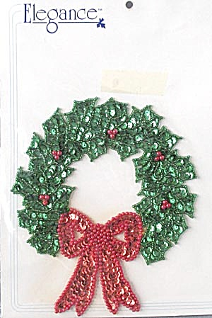 Holly Wreath Hand Made Applique