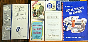 Lot Of 6 Collectible Vintage Advertising Cook Books