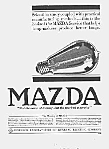 Gorgeous 1917 Art Deco Mazda Light Bulb Ad