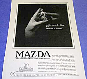 Gorgeous 1919 Art Deco Mazda Light Bulb Ad
