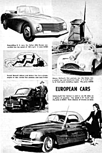 1948 Odd European Cars Gatso, Alfa, Fiat+ Mag. Article