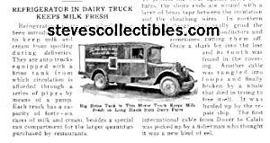 1926 Refrigerated Milk Truck Mag. Article