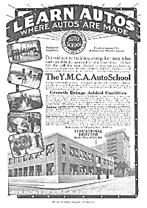 Cool 1918 Ymca Auto School/detroit Mag. Ad