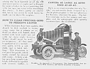 Fab 1926 Camera Shaped Auto Mag. Article