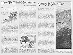 1926 Climb Mountains In Your Auto Mag Article