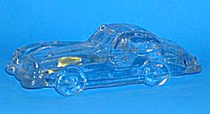 Glass Sports Car Paperweight
