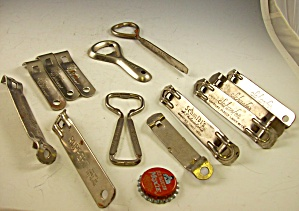 Lot Of 10 Advertising Metal Bottle Openers Beer Soda+