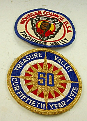 Patch Lot Boy Scout Camp Treasure Valley 1975 Mohegan Council Mass