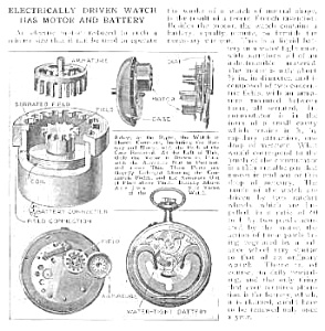 1921 First? Battery Pocket Watch Mag. Article