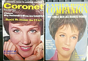 Pair Of 1960s Julie Andrews Cover Magazines