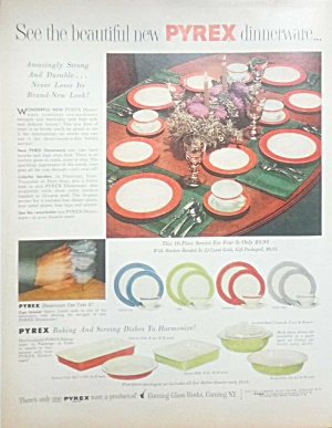 1955 Colorful Pyrex Plates - Bakeware