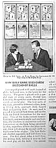 1928 Golf Card Game Magazine Article