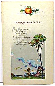 Nice Early Thanksgiving Holiday Postcard