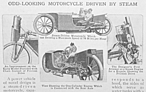 1918 Steam Motorcycle