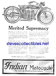 1920 Indian Motorcycle Mag. Ad