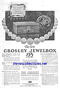 1928 Crosley Jewelbox Radio Magazine Ad L@@k