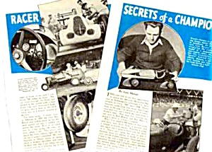 1940 Auto Racing Indianapolis Mag Article - Lou Meyer