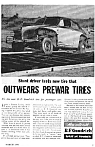 1946 Jimmie Lynch Stunt Driver Tire Mag. Ad