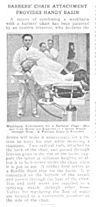 1920 Barber Shop Chair Magazine Article