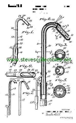 Patent Art: 1940s Dental Saliva Ejector - Matted Print