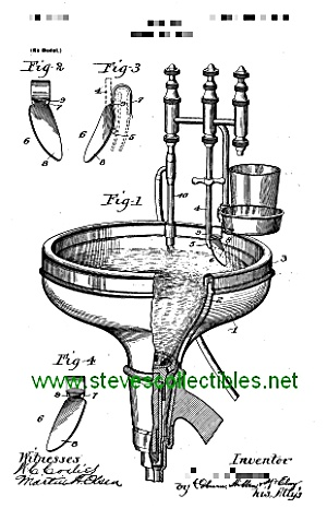 Patent Art: 1890s Dental Spittoon - Matted Print