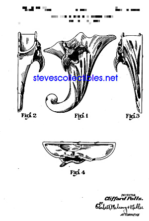 Patent Art: 1940s Hull Duck Cat Tail Wall Pocket