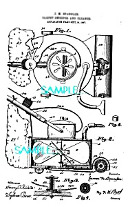 Patent Art: 1900s Carpet Sweeper - Matted