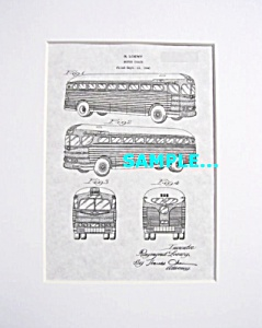 Patent Art: 1941 Greyhound Bus (Loewy) - Matted