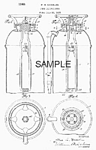 1940s Fire Extinguisher Patent-matted B