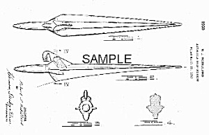 Patent Art: 1951 Frazer Hood Ornament - Matted