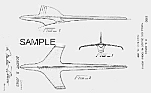 Patent Art: 1953 Packard Hood Ornament - Matted